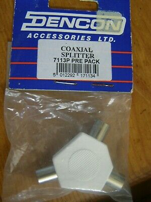 Coaxial Aerial Splitter 3 Way New • 1.10£