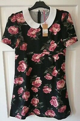 Hearts And Bows Floral Dress Size 10               * BNWT * • 5£