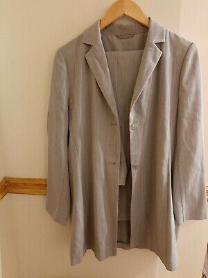 Womens Dorothy Perkins Two Piece Suit  Grey Pinstripe Size 12 • 8.90£
