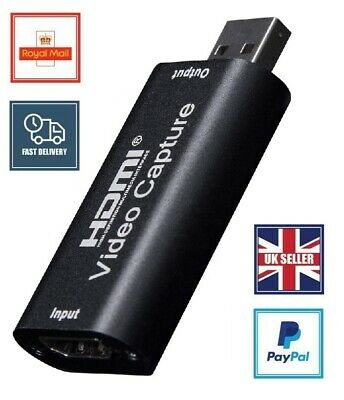HD 1080 HDMI To USB Audio And Video Capture Card For Game And Record UK Seller • 7.99£