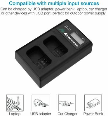 Powerextra Sony NP-FW50 Battery Smart LCD Display Dual USB Charger For Sony..... • 14.99£