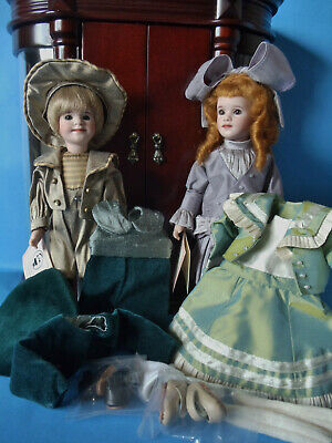 2007 Lawton BORN WITH A SILVER SPOON Two 9  Travel Dolls Masterpiece Ed #34/50 • 723.67£