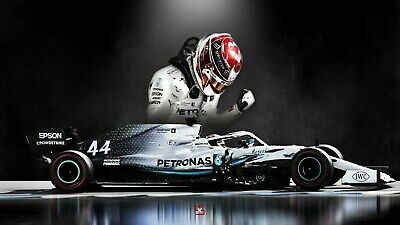 Lewis Hamilton F1 Legend GOAT 30x20 Inch Canvas - Framed And READY TO HANG • 19.99£