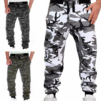 $18.15 • Buy Mens Military Combat Trousers Harem Camouflage Cargo Pants Camo Army Sweatpants