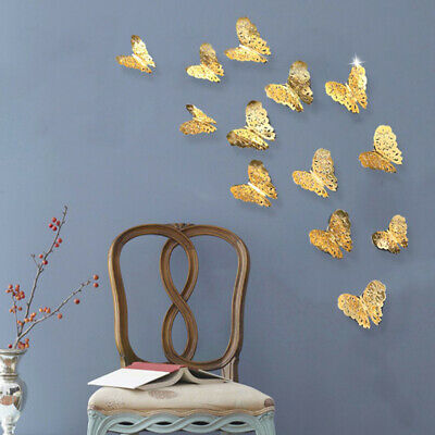 AU3.60 • Buy 3D Butterfly Design Wall Stickers 12 Pcs Removable Decals DIY Home Decoratio.LJC