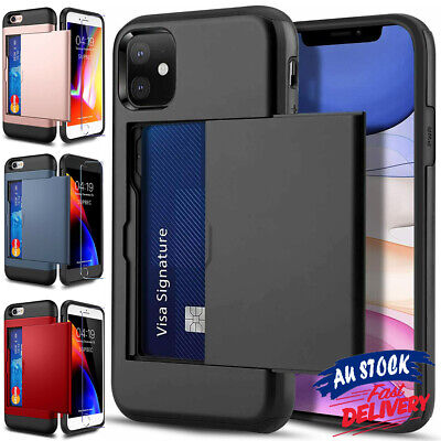 AU7.89 • Buy Card Holder Shockproof Case Wallet For IPhone 12 Mini 11 Pro Max SE 8 Plus CAS#