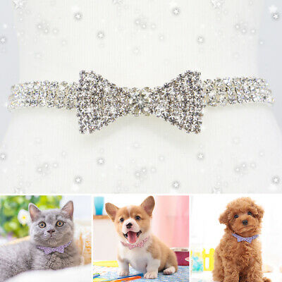 £5.99 • Buy Bling Rhinestone Cat Necklace Diamante Crystal Kitten Puppy Chihuahua Dog Collar