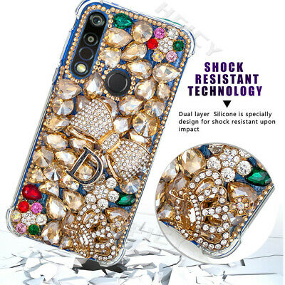 AU19.55 • Buy For Xiaomi OPPO Phone Cases Bling Women Gold Crystals Shockproof Soft Cover Skin