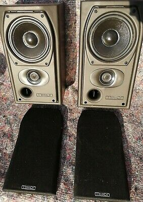 MISSION Vintage 90S 2 Way Stereo Speakers Black Wood Made In England FREE P&P  • 49.99£