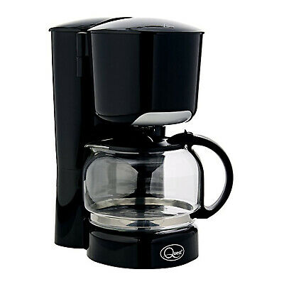 Quest Black Filter Instant Coffee Maker Kitchen Office Home Café Glass Machine • 21.99£
