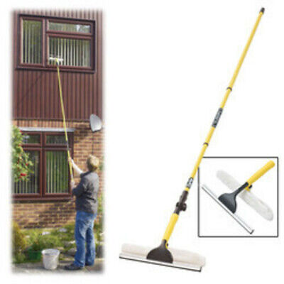 Clarke Extendable Telescopic Window Cleaner & Mop 3.3M Max Length House Home  • 15.99£