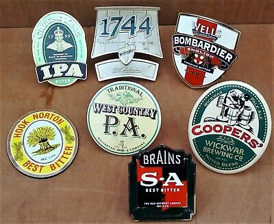 Collection Of Metal And Plastic Beer Pump Clips • 2.99£