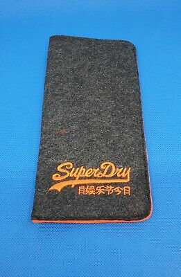 SUPERDRY Designer Spectacle Glasses Sunglasses Case - BRAND NEW, Slim Soft Pouch • 6.99£