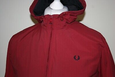 Fred Perry Rich Red Tipped Hooded Waterproof Brentham Jacket M Mod Casuals Top  • 0.99£