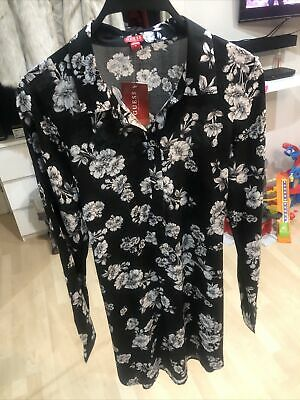 Brand New Guess Holiday Floral Smart Shirt Dress UK Size 6-8 RRP $49.99 • 1.30£