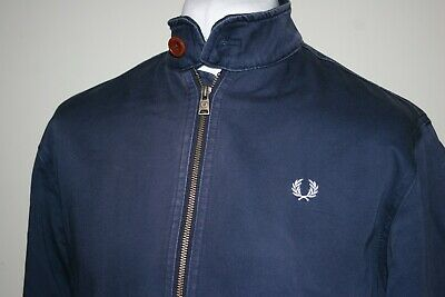 Fred Perry Carbon Blue Tartan Lined Scooter Jacket Size S/M Mod Ska Casuals Top  • 10.50£