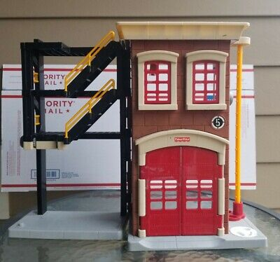Fisher Price Imaginext Rescue Firefighter Fire Station House Toy Playset - Kids • 14.46£