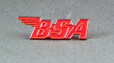 Metal Enamel Pin Badge Brooch  - BSA RED, BSA MOTORCYCLES & SCOOTERS • 2.65£