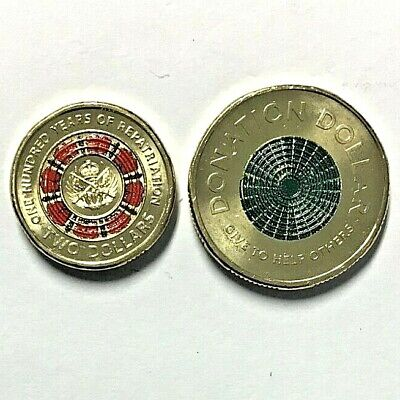 AU9.85 • Buy 2019 $2 Coin 100 Years Repat   Ex Cotton & Co Roll  + Donation Coin Unc, 2 Coins