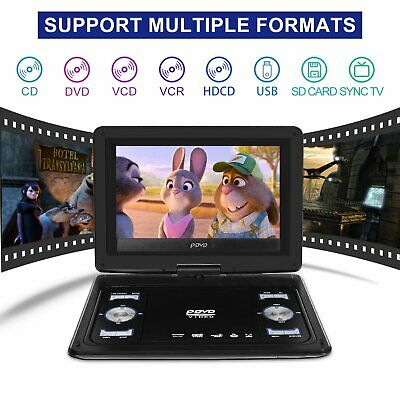 AU76.69 • Buy UPGRADED Portable Car TV HD DVD Player 16:9 270° Rotate Screen USB Game Charge