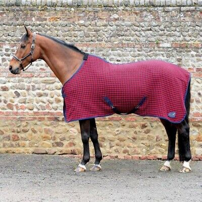 Masta Soft Waffle Weave Rug - Red Check - Size 4'6/137cm/54  • 23.70£