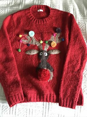 Rudolph Next Christmas Jumper 12 Years • 5.50£