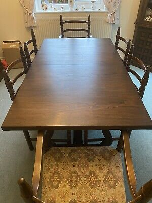 Younger Toledo Solid Chestnut Wood 6-Seater Dining Table And 6 Matching Chairs • 85£