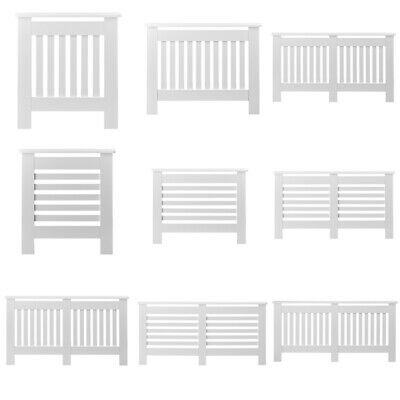 £34.99 • Buy Radiator Cover White Modern Traditional Wood  Cabinet Furniture Vertical SMLXL