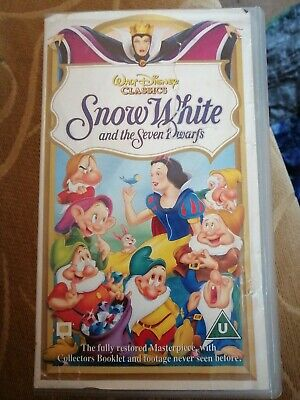 Walt Disney Classics Snow White And The Seven Dwarfs VHS (5017182152422)  • 3.50£