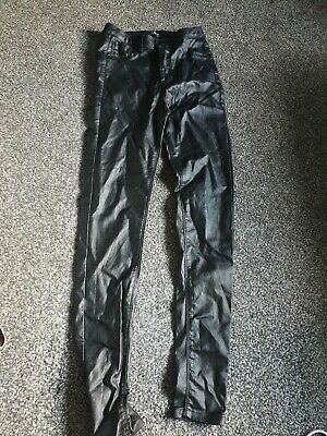 Quiz Leather Look Jeans Size 6 • 1.30£