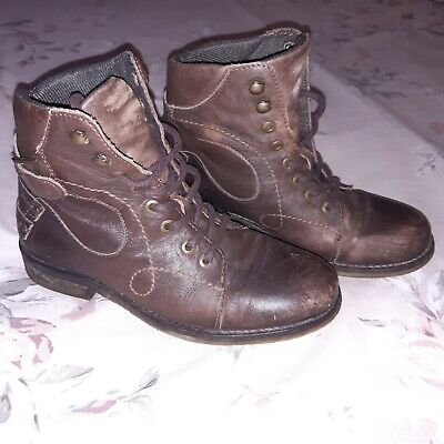 Pavers Brown Ankle Boots Size 4 • 2.50£