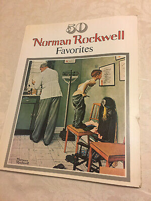 $ CDN9.08 • Buy Vtg 50 Norman Rockwell Favorites Book Large Posters Coffee Table Frame-able 1977