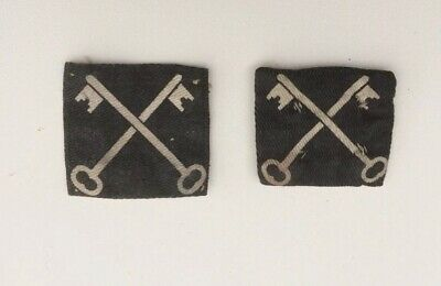 2 WW2 British Army Crossed Keys - 2nd Infantry Division ~ Formation Badges. • 6£