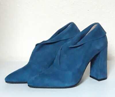 Moda In Pelle CIMMIE Teal Suede Boots, UK 7/EU 40 • 39.99£