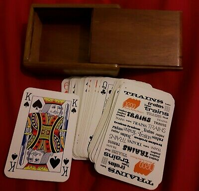 Pack Of Playing Cards In Wooden Box Very Good Condition • 0.99£
