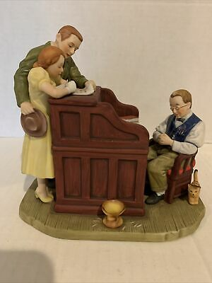 $ CDN23.34 • Buy Vintage Norman Rockwell Figurine  THE MARRIAGE LICENSE   Gorham 1982