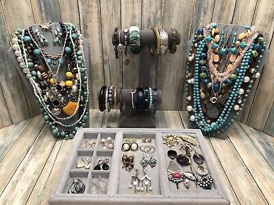 $ CDN13.62 • Buy Huge Vintage To Now Jewelry Lot - Estate Find - All Wearable Pieces - 3 Lbs +