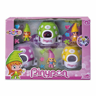 £18.90 • Buy Pinypon Pack 3 Elfes And 3 Mushroom Magic Houses By FAMOSA New Fast Delivery