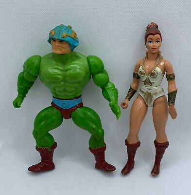 $8.99 • Buy Vintage Masters Of The Universe Man-At-Arms & Teela Action Figures Heman Motu