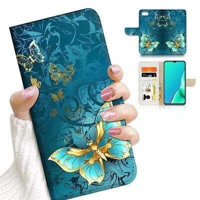 AU12.99 • Buy ( For IPhone 8 Plus ) Wallet Flip Case Cover PB24049 Blue Butterfly