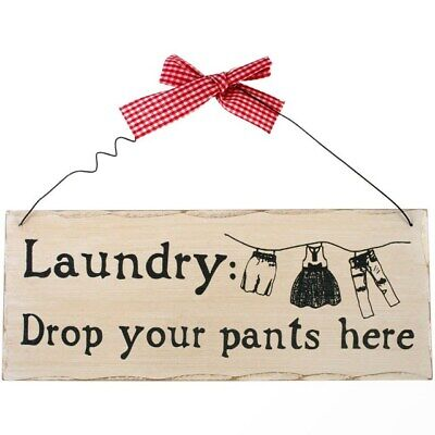 £4.99 • Buy Laundry: Drop Your Pants Here Hanging Sign
