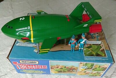 Boxed Vintage 1992 Matchbox Large Thunderbirds 2  Electronic Playset & 2 Figures • 29.99£