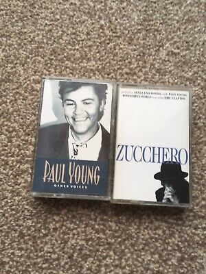 Paul Young And Other Voices & Zucchero Rare Audio Cassettes • 2.50£