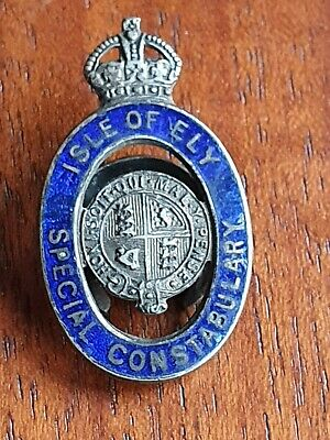 Isle Of Ely Special Constabulary   Enamelled Lapel Badge Kings Crown • 5£