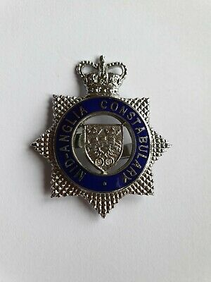 OBSOLETE MID-ANGLIA Constabulary Police Cap Badge • 7.50£