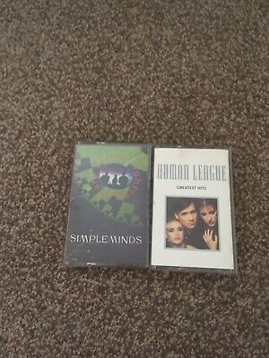Human League GH And Simple Minds Street Fighting Years Audio Cassettes • 2.50£