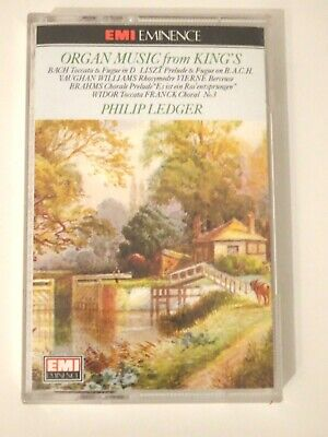Organ Music From King's Philip Ledger Cassette Tape 1976 EMI Eminence • 4.99£