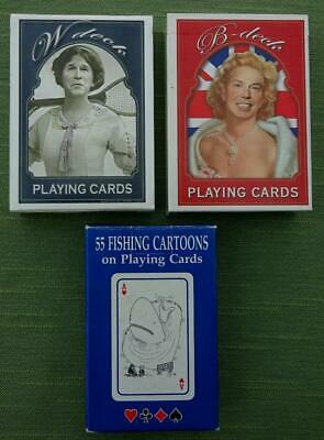 3 Packs Of Playing Cards With A Humorous Theme • 4.19£