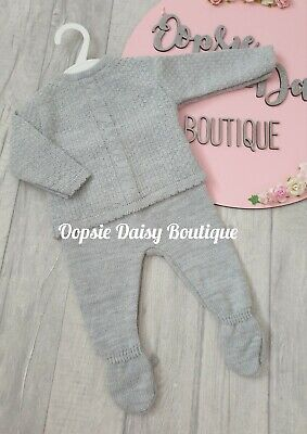 Boys Portuguese Grey Knitted Suit  • 12£