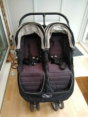 Baby City Jogger Double Pushchair With Footmuff And Raincover Black  • 18£